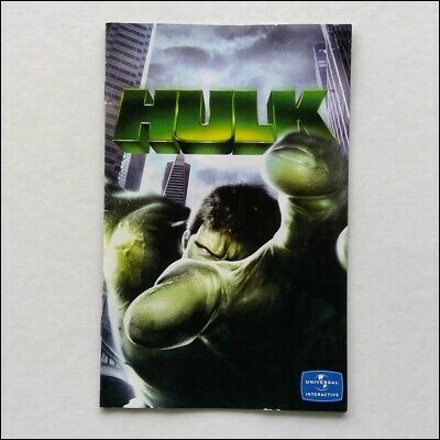 Hulk PlayStation Manual Only Instruction Booklet