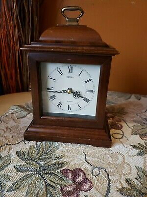Seiko mantle clock Japan movement works small 8""