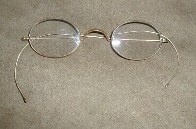 Pair of Small Vintage J. O. C. Stiffened Gold Wire Rim Spectacles - Eyeglasses