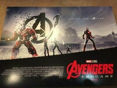 "AVENGERS ENDGAME AMC IMAX EXCLUSIVE POSTERS 11"" x 15.5"" Week 1 & 2"