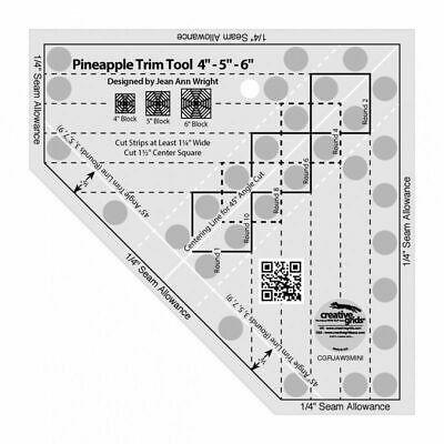Creative Grids Pineapple Trim Tool ruler Mini - 4, 5, 6 Inch Blocks
