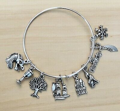 Game of Thrones themed Expandable charm Bangle Bracelet