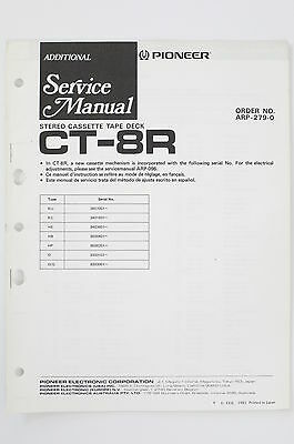 PIONEER CT-8R ARP-279 Tape Deck ADDITIONAL Service-Manual/Schaltplan/Diagram o99