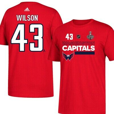 89c993c7d55 Tom Wilson NHL Washington Capitals Red 2018 Stanley Cup N&N Jersey T-Shirt