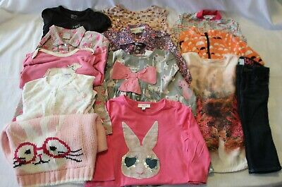 LOT 13 Pcs Girls Clothes Size 1 ~ SEED SOOKI PUREBABY GAP BOUT CHOU NEXT HATLEY
