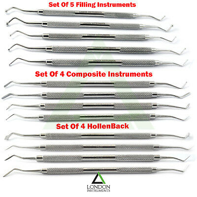 Procedure Instruments Ball Burnishers Dentist Dental Amalgam Filling Restoration