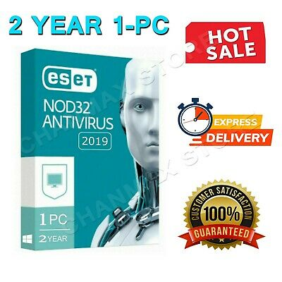 ESET NOD32 Antivirus 2019 1 PC , 2 Year ( Exactly 730 Days ) Fast Delivery