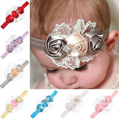 Baby Girl Toddler Elastic Flower Floral Headband Hairband Headwear Accessories