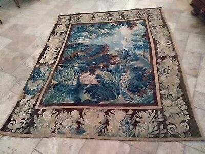 18 th century French Aubusson verdure large tapestry