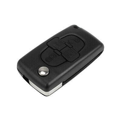 Uncut 4 Buttons Remote Folding Key Fob Shell Case for Peugeot 1007 Citroen C8