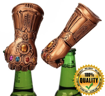 WROUGHT IRON Beer Bottle Opener Thanos Infinity Gauntlet Glove Soda Can Opener