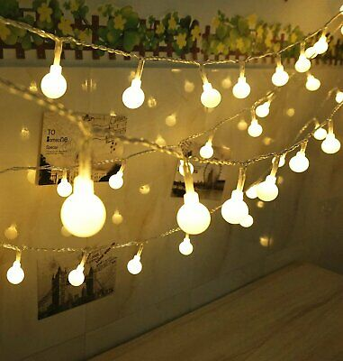 10m/20m Mains Powered Warm White LED String Fairy Ball Lights Indoor/Outdoor UK