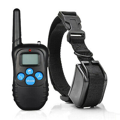 Dog Shock Training Collar Rechargeable LCD Remote Control Waterproof 330 Yards *
