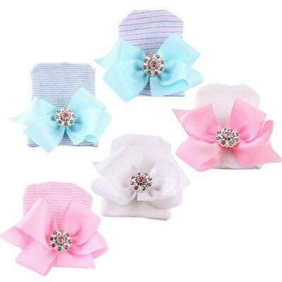 Hat Diomand Toddler Baby Girl Warm Hospital Cap Newborn Bowknot Beanie Cotton