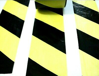 Black & Yellow barrier tape. 20 Metres. Hazard. Warning. Safety. *Non adhesive!