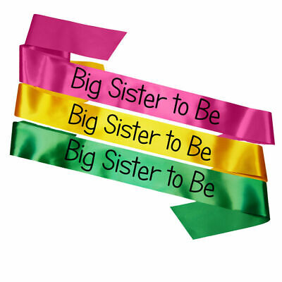 New Big Sister to Be Sash Childrens Baby Shower Party Sashes Gift Decoration Mum
