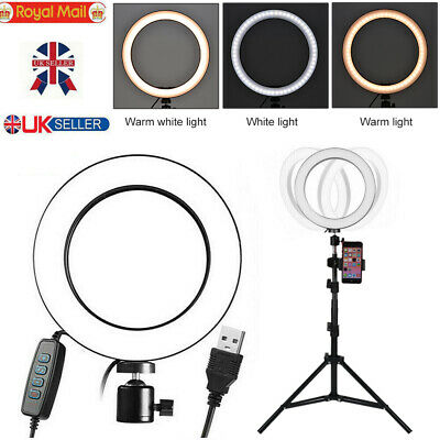 "10""26CM LED Ring Light with Stand Dimmable Lighting Kit For Makeup Youtube Live"