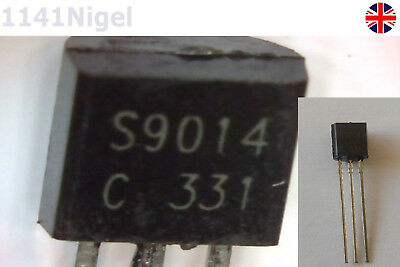 50PCS Lot Durable S9014 S9014C TO-92 NPN 50V 0.1A Transistor NEW