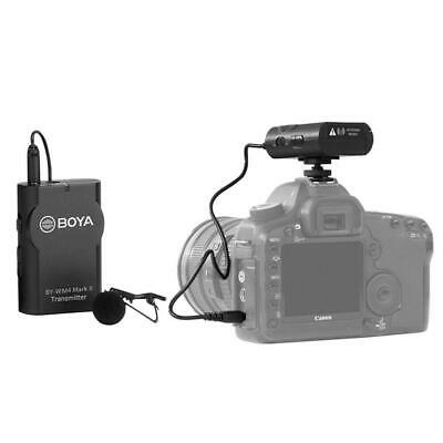 BOYA BY-WM4 Mark II Universal Wireless Lav Microphone For DSLR Camera Camcorder