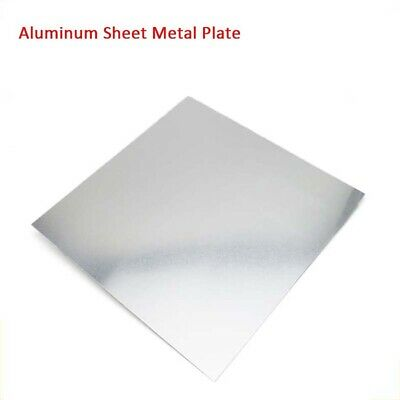 1pcs Aluminum Sheet Metal Plate 0.3/0.5/1/2mm Thickness Multiple Sizes