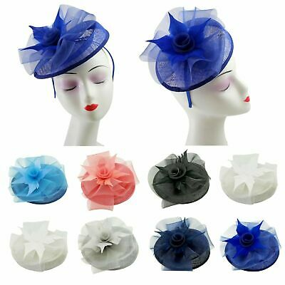 Ladies Womens Fascinator Headband,Clip Hat Weddings Special Day Race Royal Ascot