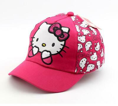 Cute Hello Kitty Toddler Girls Cotton Sun Cap Trucker Hat Baseball Cap 2-8 Years