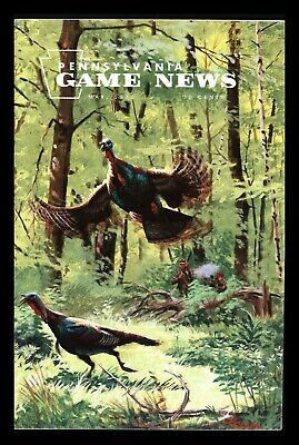"""1976 """"Pennsylvania Game News"""" (May) Turkey Hunting Cover Art by Taylor Oughton"""