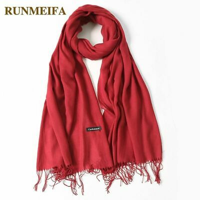 Women Scarf Summer Fashion Thin Shawls And Wraps Solid Long Cashmere Head Scarve