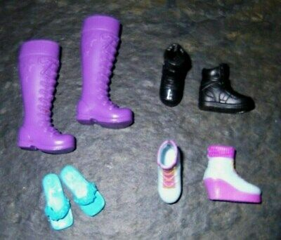 BARBIE DOLL SHOES j10 - 4 PAIRS of ASSORTED MODERN SKIPPER SHOES