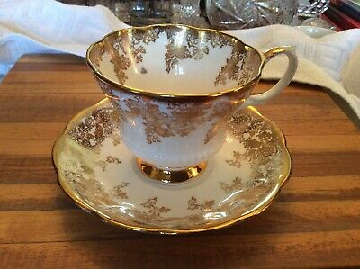 Royal Albert Gold Flowers Cup & Saucer #2