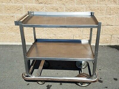 Industrial Two Tier Stainless Steel Rolling Cart Vintage steampunk bar home work