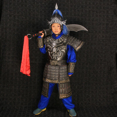 China Ancient children General soldier helmet and armor clothes