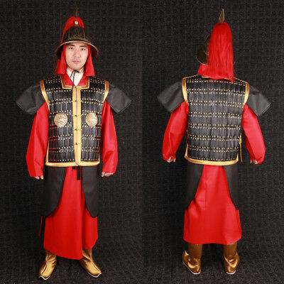 China Ming Dynasty helmet and armor General clothes hat shoe set