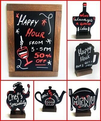 Silhouettes Blackboard Marker Hanging  Free Stand Pubs Restaurants Coffee Shops