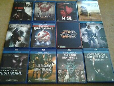 Lot de films BLU-RAY Fantastique-suspens-SF