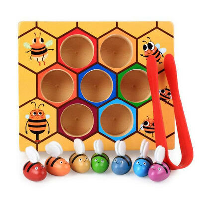 Children's Early Education Wooden Montessori Education Beehive Game Puzzle Toy