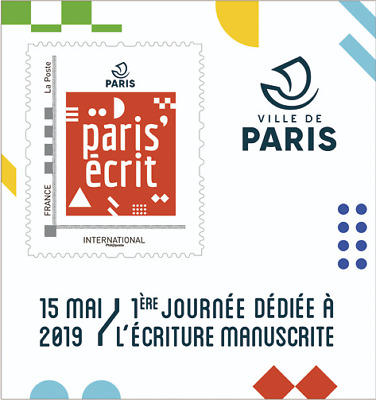 France 2019 Collector  International   Paris'écrit + Carte Postal MNH / Neuf**
