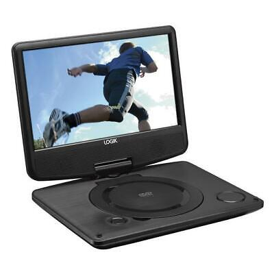 "Logik L9SPDVD16 Portable DVD Player Black With 9"" LC Screen & USB Port"