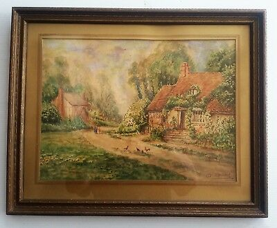 """Listed Canadian Artist - Otto Planding (1887-1967)  - W/C 10""""x 13.6"""" Signed."""