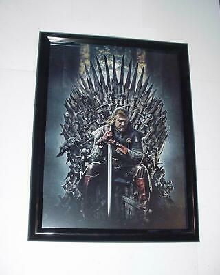 Game of Thrones Poster #37 FRAMED Ned Stark on the Iron Throne George R.R. Marti