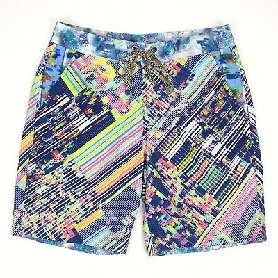 dd50ee4086 Robert Graham Men's Classic Fit Swim Trunks Size 34 UNIVERSE Lined  Boardshorts