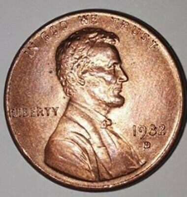 1982D Lincoln Memorial Penny Zinc Small Date Uncirculated Condition! high grade!