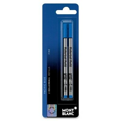 New Montblanc Pacific Blue Fine Rollerball Pen Refill (2x1) 107882 Germany F