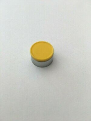 10 000pcs. 13mm Flip Off Caps  with yellow plastic button
