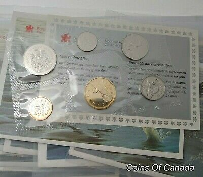 1991 Canada 6 Coin Prooflike Set w/ COA - Multiple Sets Available #coinsofcanada
