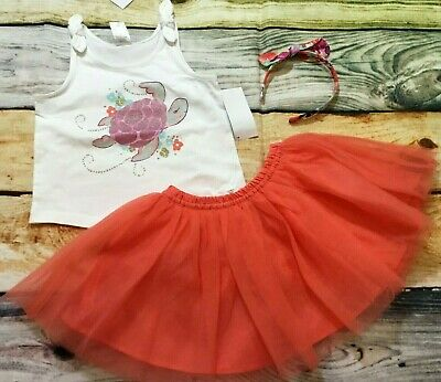 Gymboree 3T 2T  Island Girl Turtle Top Tropical Floral Bubble Shorts Outlet NWT