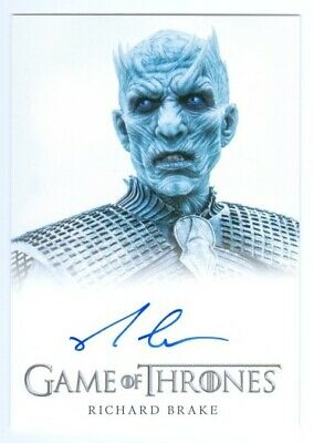 "Richard Brake ""Night King Autograph Card"" Game Of Thrones Season 6"