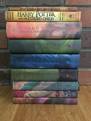 HARRY POTTER Books 1-7 COMPLETE SET Hardcover Dust Jackets + Cursed Child