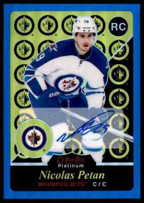 2015-16 Retro Blue Rainbow Autographs Nicolas Petan Rookie Auto Winnipeg Jets