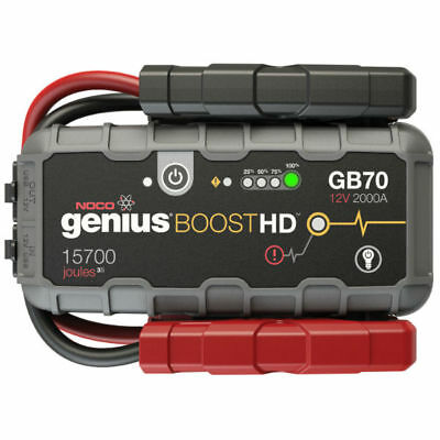 NOCO GB70 Genius Boost HD, 12V 2000A Smart Jump Starter with Carry Case (Bundle)
